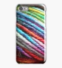 Colorful Yarn Skein for knitters iPhone Case/Skin