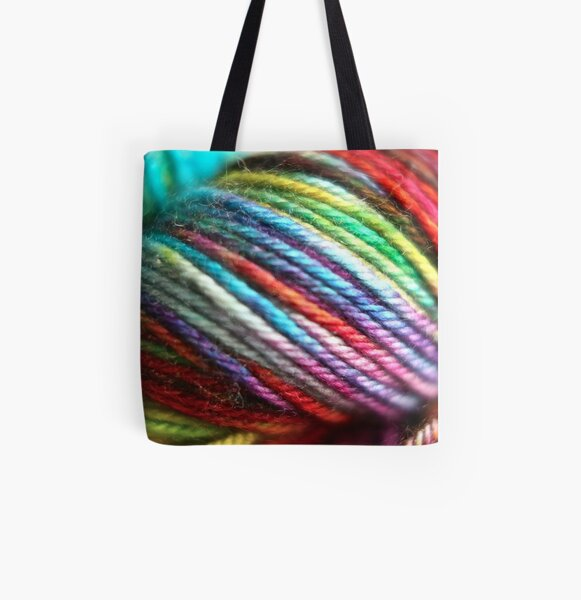 Colorful Yarn Skein for knitters All Over Print Tote Bag