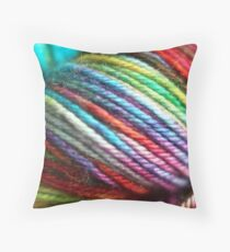 Colorful Yarn Skein for knitters Throw Pillow