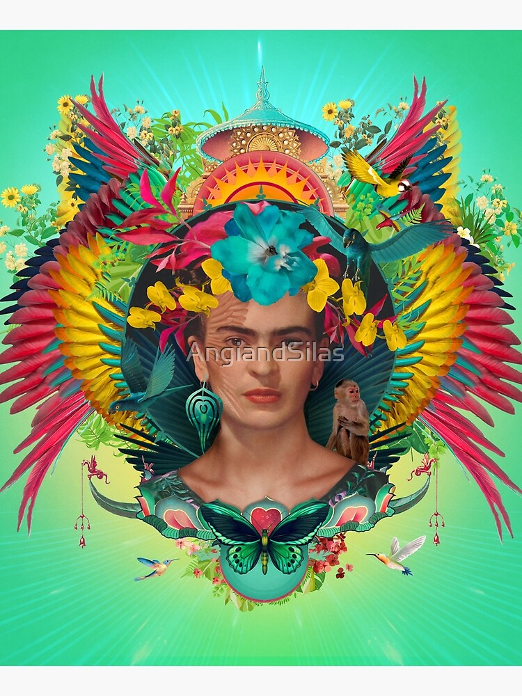 Frida Kahlo Tribute Tropical by AngiandSilas