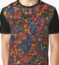 Abstract #10 Chaos in Red & Blue Graphic T-Shirt