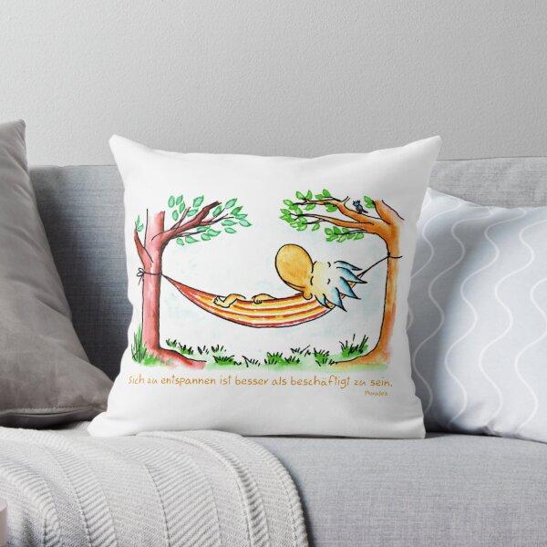 Relaxing is better Throw Pillow