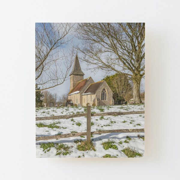 Postling Church Wood Mounted Print