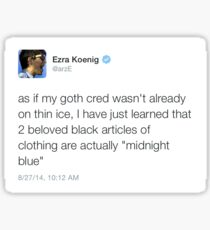 a tweet by ezra koenig Sticker
