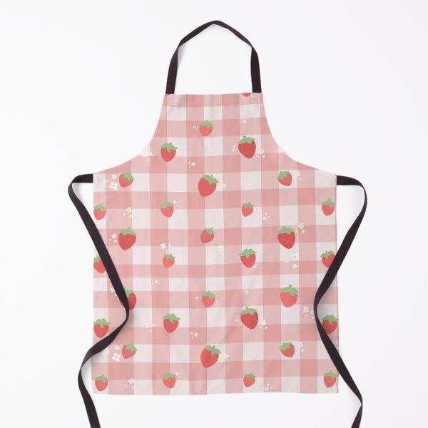 Strawberry Plaid Apron