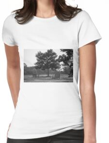 Sitting Tree Womens Fitted T-Shirt
