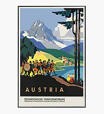 Austria Vintage Travel Poster Photographic Print