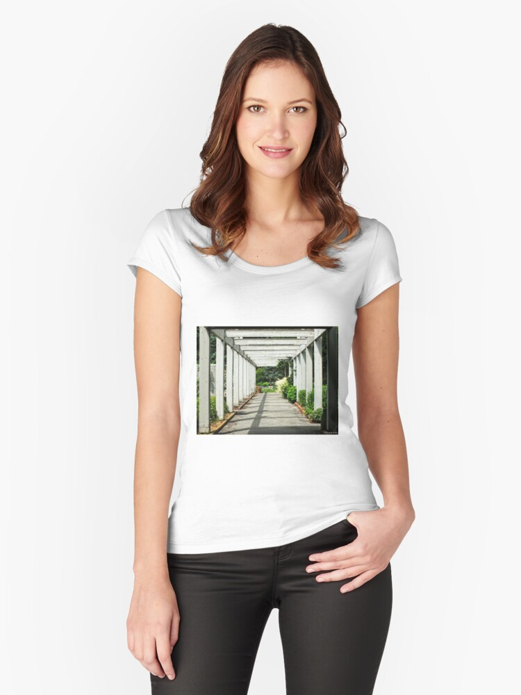 Walk to the Garden Party.... Women's Fitted Scoop T-Shirt Front