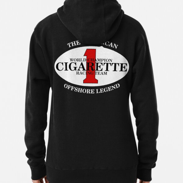 Cigarette Racing Team Power Boats BACK SIDE Pullover Hoodie