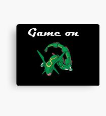 Game on Rayquaza Canvas Print