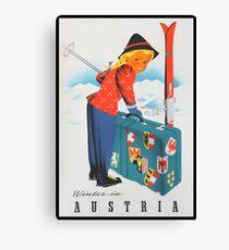 Winter in Austria Vintage Travel Poster Canvas Print