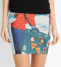 Winter in Austria Vintage Travel Poster Mini Skirt