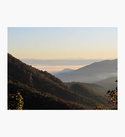 Valley Fog At Sunrise Photographic Print