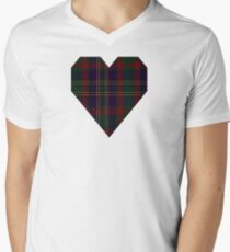 00319 Cork, County (District) Tartan  Men's V-Neck T-Shirt
