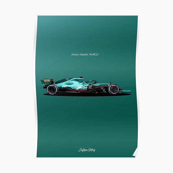 Aston Martin AMR21 2021 Formel-1-Auto Poster