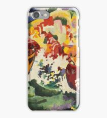 Vintage famous art - August Macke - Native Sea Fight iPhone Case/Skin