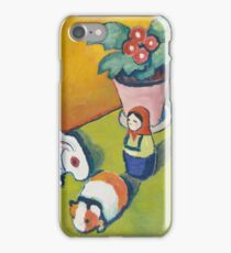 Vintage famous art - August Macke - Little Walter S Toys iPhone Case/Skin