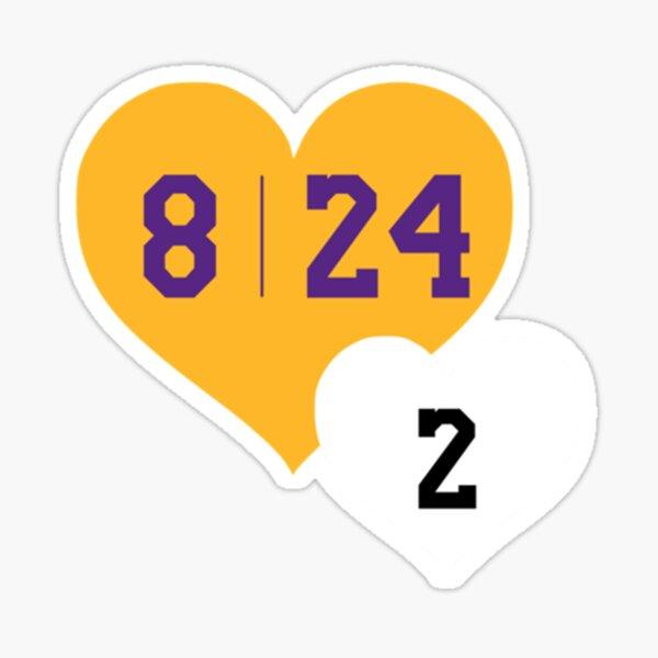 Kobe Bryant et Gianna Bryant 8 24 2 Sticker