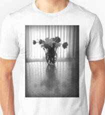 Tulips & Daffodils in Black & White Unisex T-Shirt