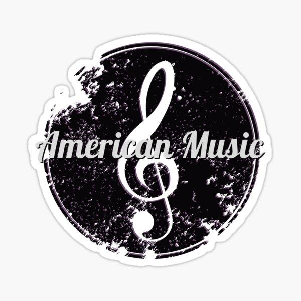 American Music tired music note Sticker
