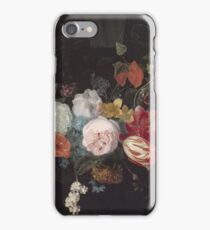 Adriaen Van Der Spelt  - Still Life With A Flower Garland And A Curtain 1658. Still life with flowers: still life with flowers, flowers, blossom, nature, botanical, floral , flora, wonderful flowers iPhone Case/Skin
