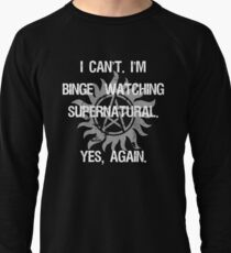Supernatural Binge Watching Lightweight Sweatshirt