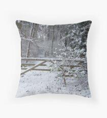 GATEWAY TO THE SNOW Throw Pillow