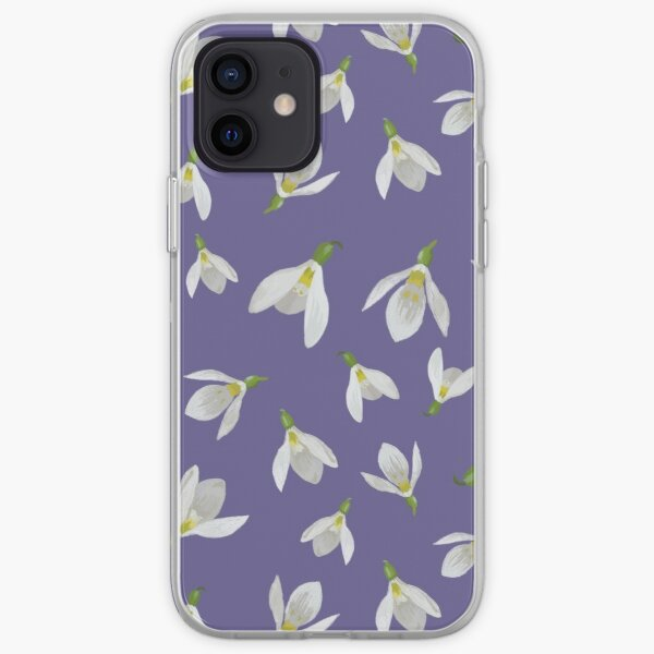 Oxfordshire Snowdrops Repeat Pattern  iPhone Soft Case