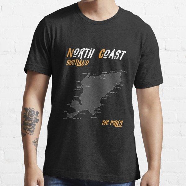 North Coast 500 T-Shirt | Route Map| Scotland | NC500 | 516 Miles  Essential T-Shirt