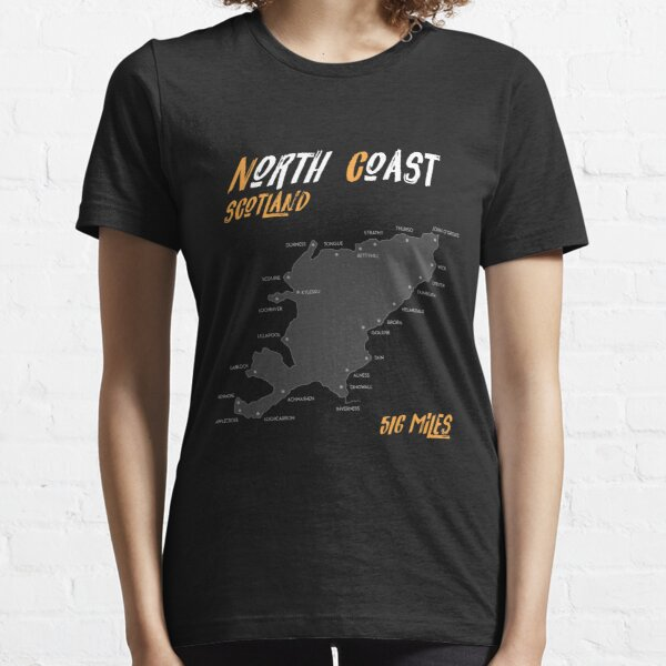 North Coast 500 Route Map| Scotland | NC500 | 516 Miles  Essential T-Shirt