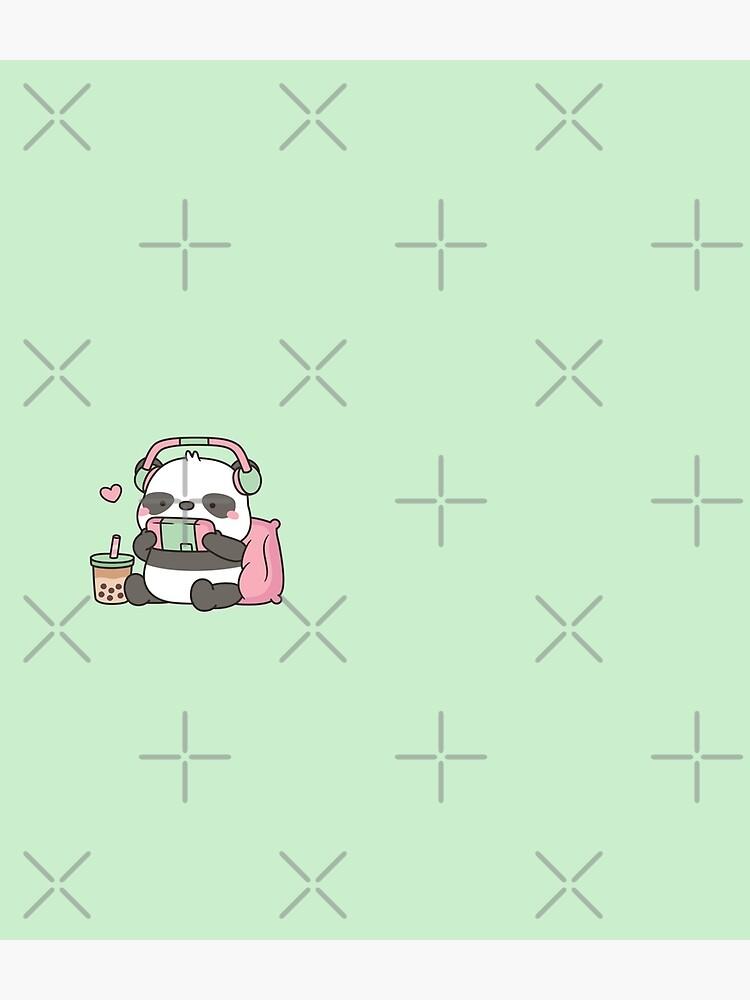 Cute Little Panda Gamer With Headphones by rustydoodle