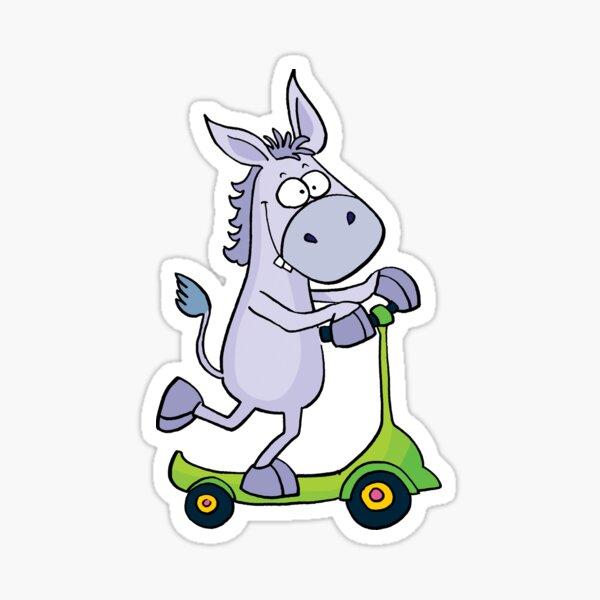 Donkey Scooter Sticker