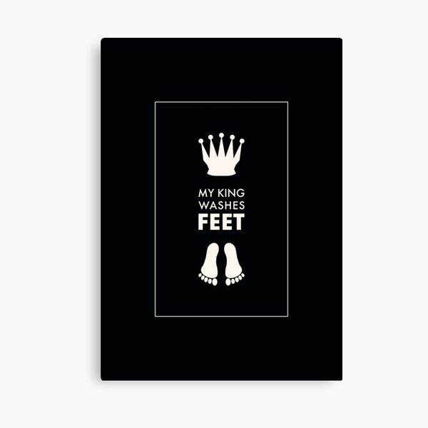 My King Washes Feet Christian Art - Dark Colour Scheme Canvas Print