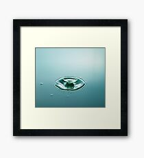 Green Cup - Water Drop Framed Print