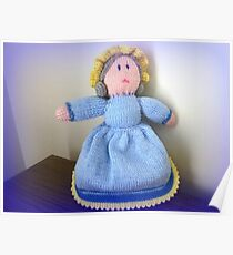 Hand Made knitted Doll  Poster