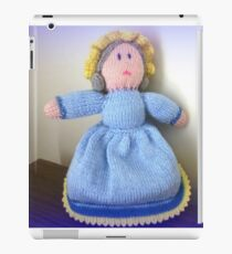 Hand Made knitted Doll  iPad Case/Skin