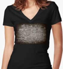 pattern grey color of modern style design decorative  Women's Fitted V-Neck T-Shirt