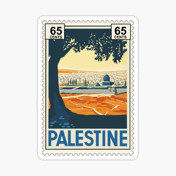 Palestine Postage Stamp Sticker