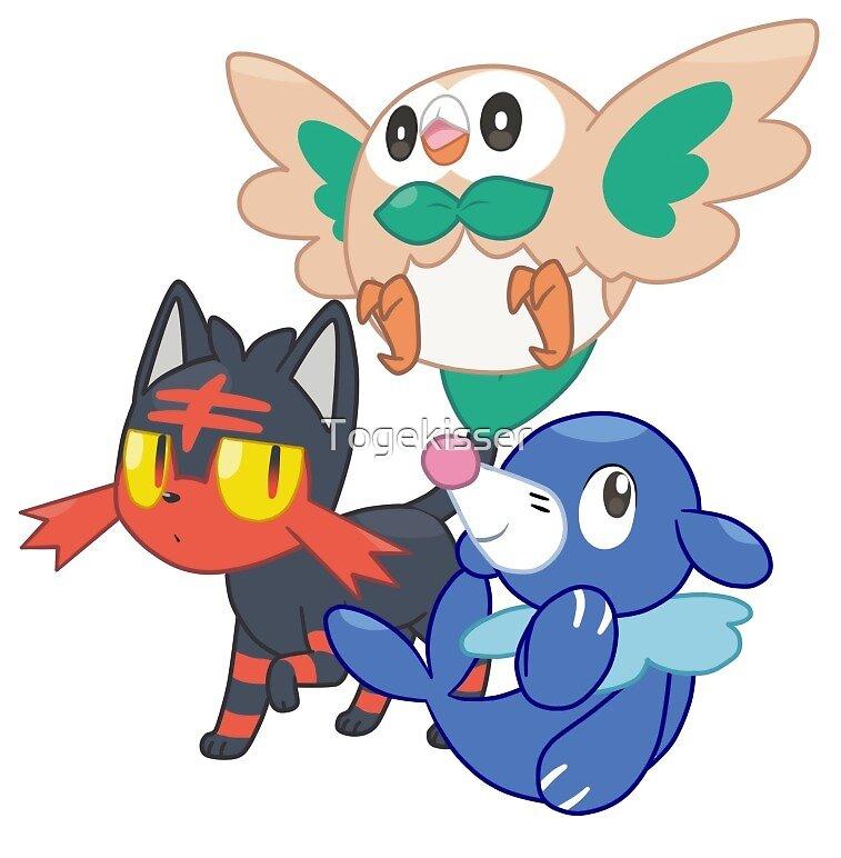 Pokemon Sun and Moon Starters by Togekisser