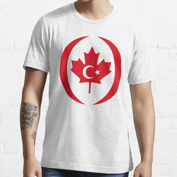 Turkish Canadian Multinational Patriot Flag Series Essential T-Shirt