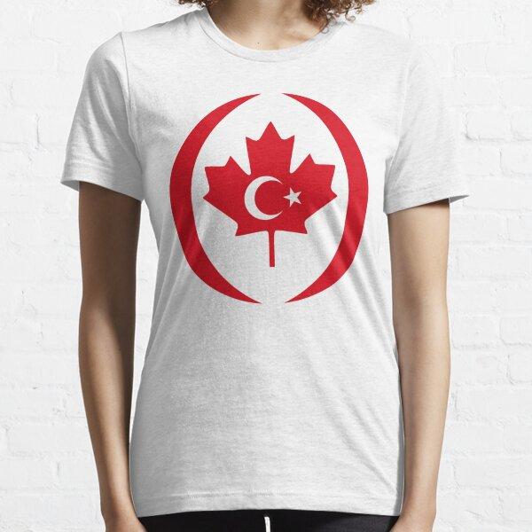 Turkish Canadian Multinational Patriot Flag Series Essential T-Shirt