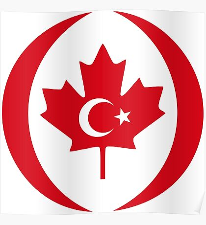 Turkish Canadian Multinational Patriot Flag Series Poster