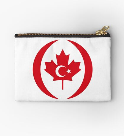 Turkish Canadian Multinational Patriot Flag Series Zipper Pouch