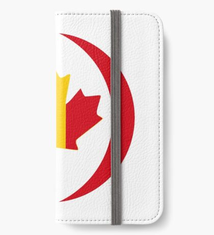 Romanian Canadian Multinational Patriot Flag Series iPhone Wallet