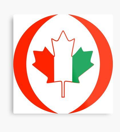 Ivory Coast Canadian Multinational Patriot Flag Series Metal Print