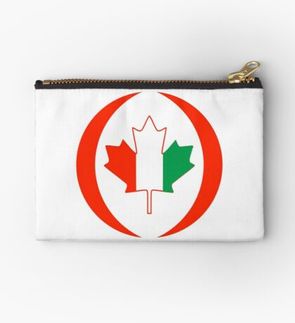 Ivory Coast Canadian Multinational Patriot Flag Series Zipper Pouch