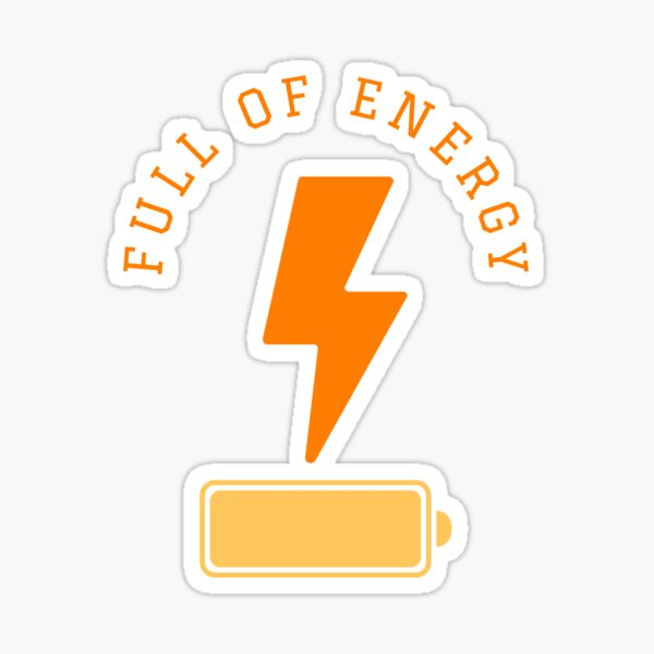 Battery full of energy with a lightning symbol Sticker