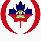 Haitian Canadian Multinational Patriot Flag Series by Carbon-Fibre Media