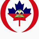 Haitian Canadian Multinational Patriot Flag Series by Carbon-Fibre Media