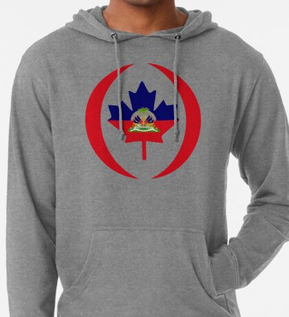 Haitian Canadian Multinational Patriot Flag Series Lightweight Hoodie